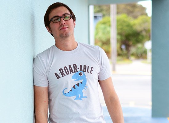 A-Roar-Able on Mens T-Shirt