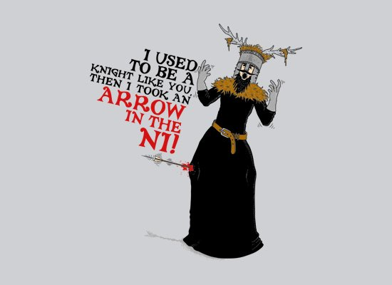 An Arrow In The Ni on Mens T-Shirt