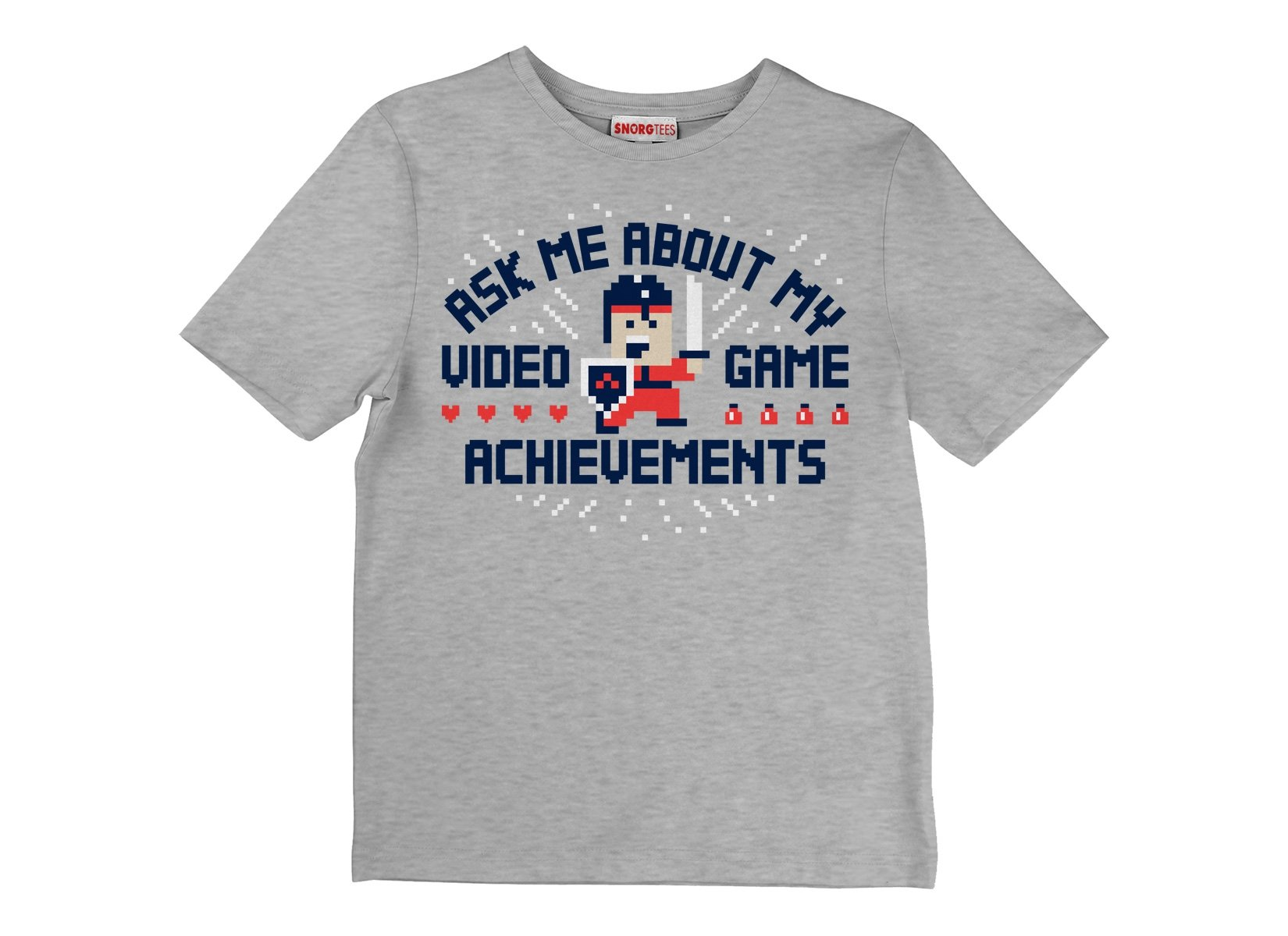 Ask Me About My Video Game Achievements on Kids T-Shirt