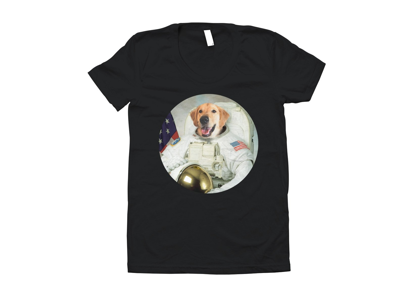 Astrodog on Juniors T-Shirt