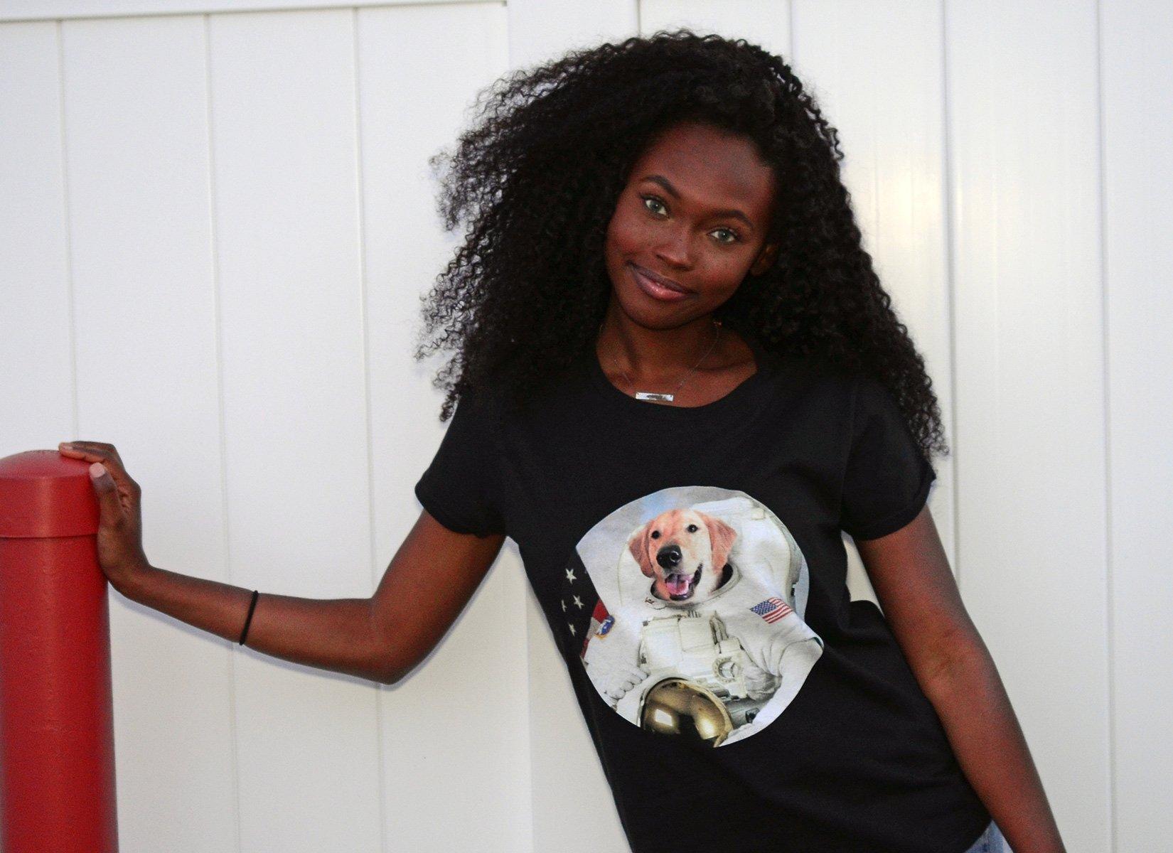 Astrodog on Womens T-Shirt