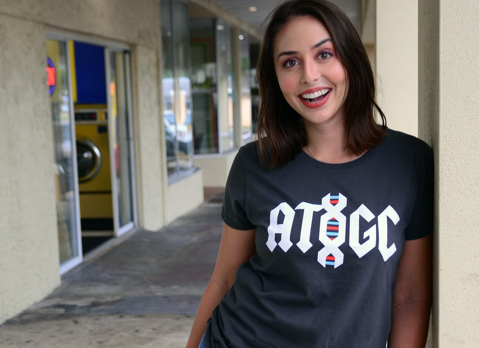 ATGC DNA on Womens T-Shirt
