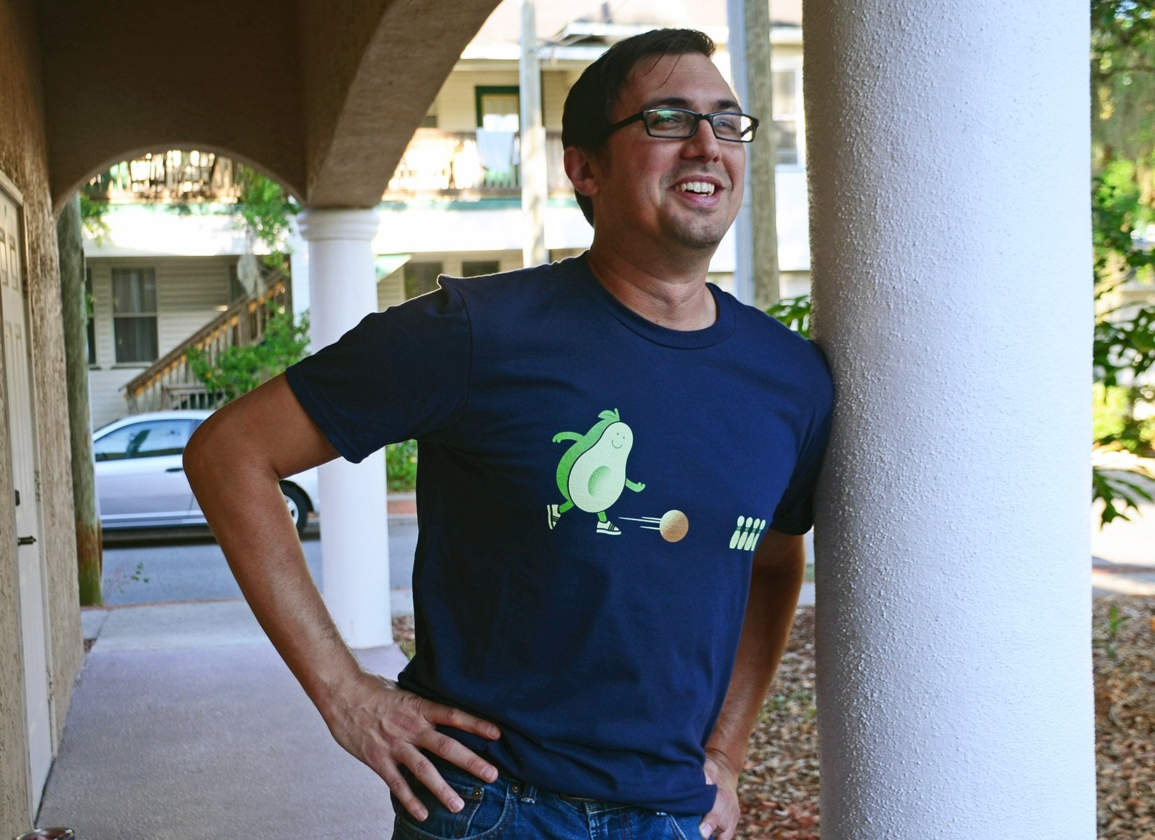 Avocado Bowl on Mens T-Shirt
