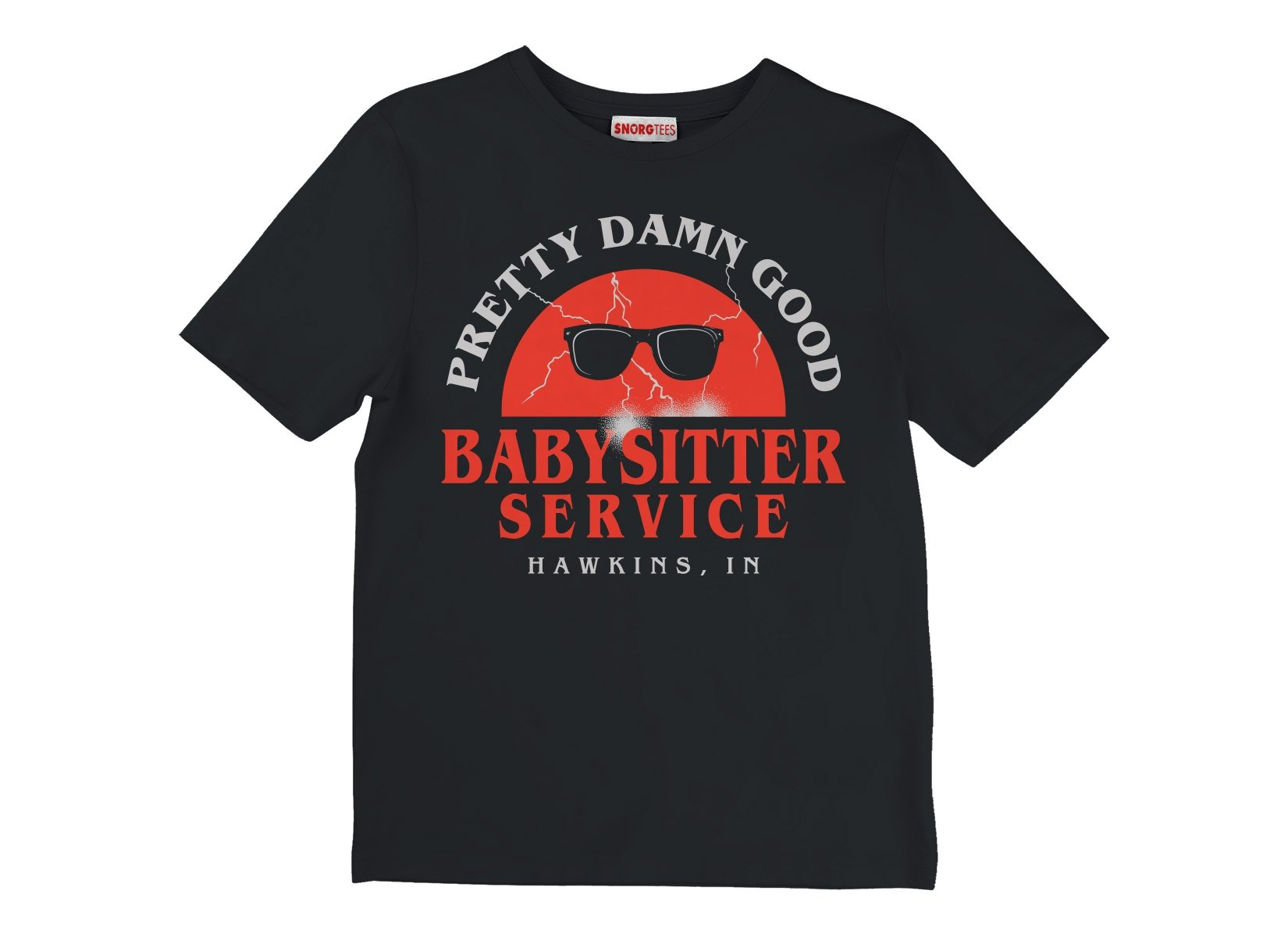 Pretty Damn Good Babysitter Service on Kids T-Shirt