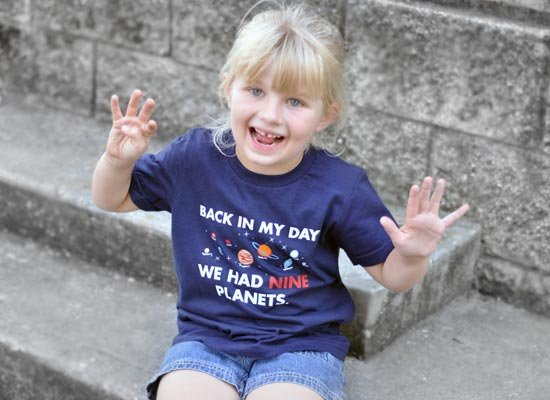 Back In My Day We Had Nine Planets on Kids T-Shirt