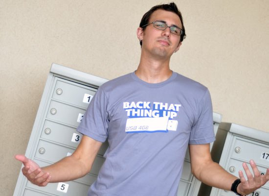 Back That Thing Up on Mens T-Shirt