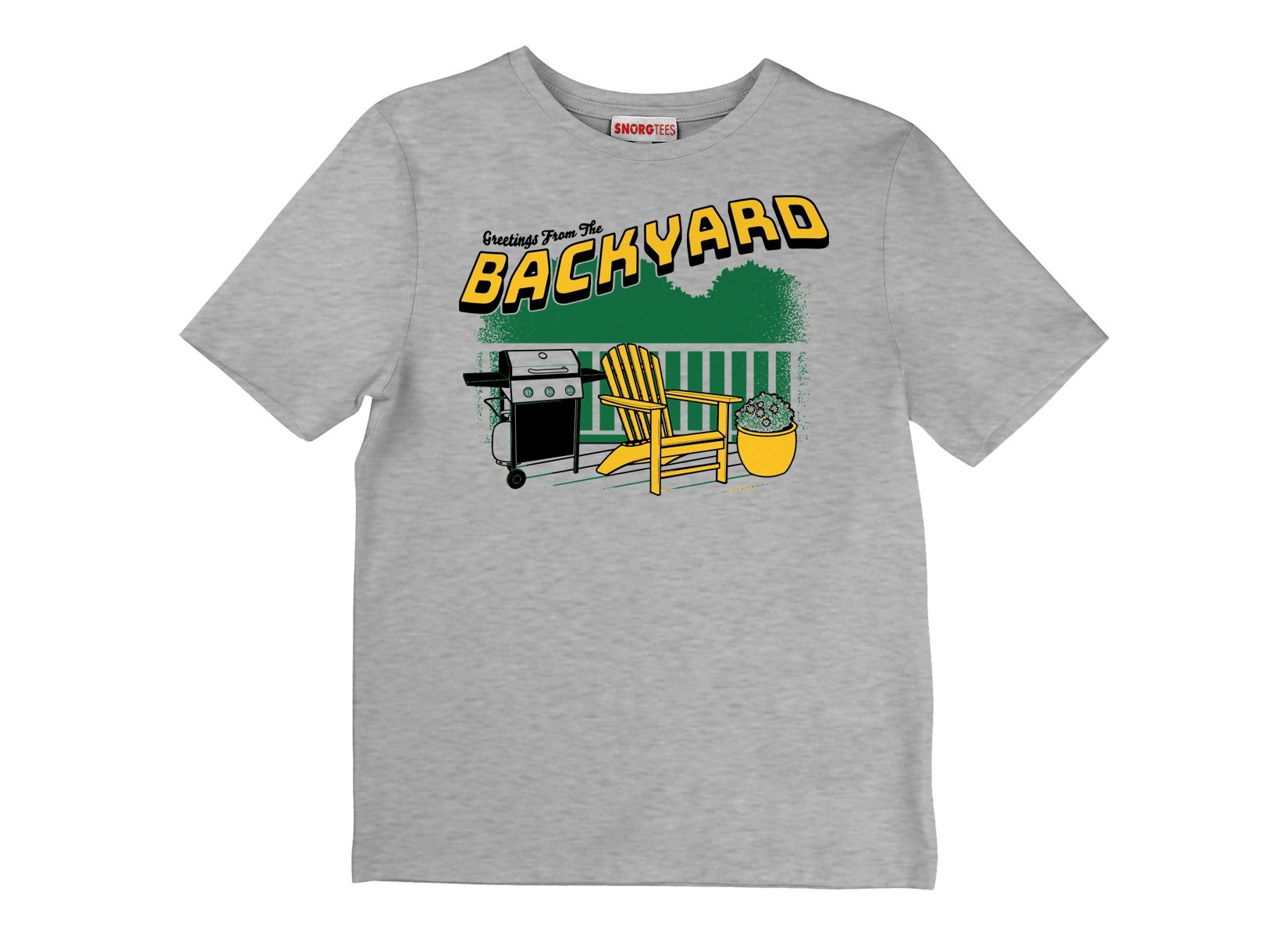 Greetings From The Backyard on Kids T-Shirt