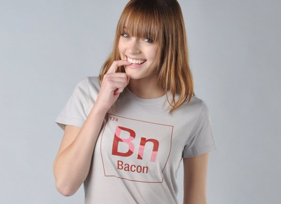 Bacon Element on Juniors T-Shirt