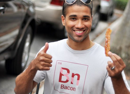 Bacon Element on Mens T-Shirt
