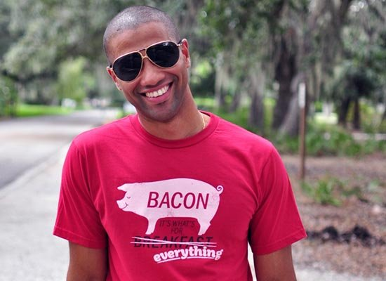 Bacon, It's What's For Everything on Mens T-Shirt