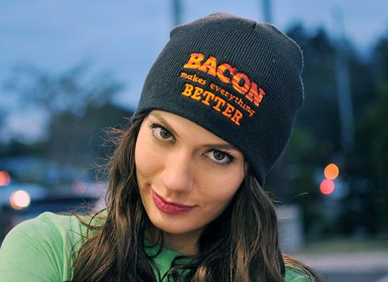 More Views. Previous. Next. Bacon Makes Everything Better Beanie 0555b2acc3a