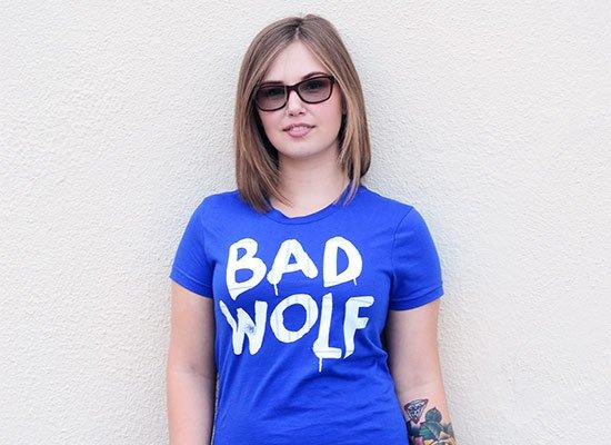 Bad Wolf on Juniors T-Shirt