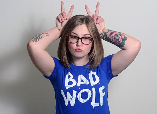 Bad Wolf on Juniors T-Shirt
