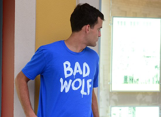 Bad Wolf on Mens T-Shirt