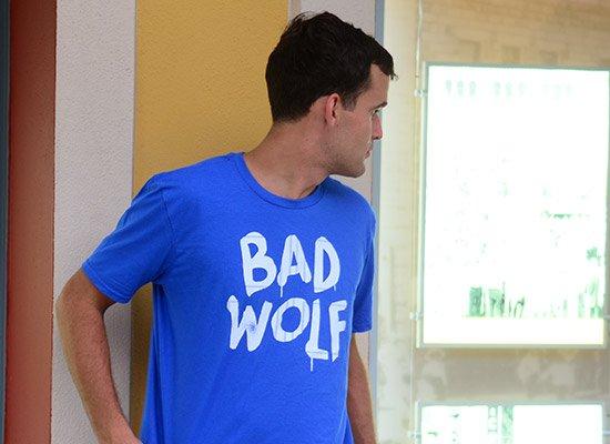 Bad Wolf on Mens T-Shirt