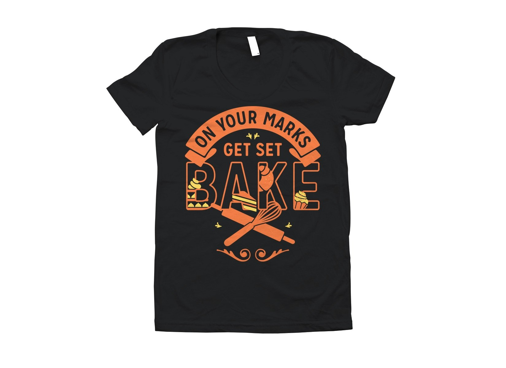 On Your Marks Get Set Bake on Juniors T-Shirt
