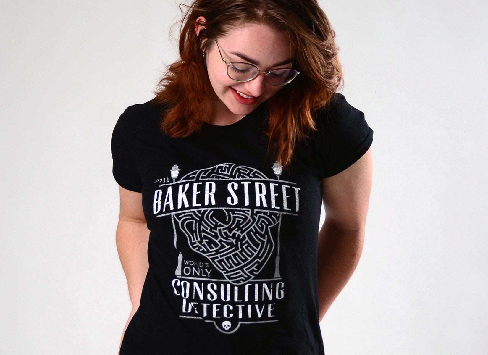Baker Street Consulting Detective on Womens T-Shirt
