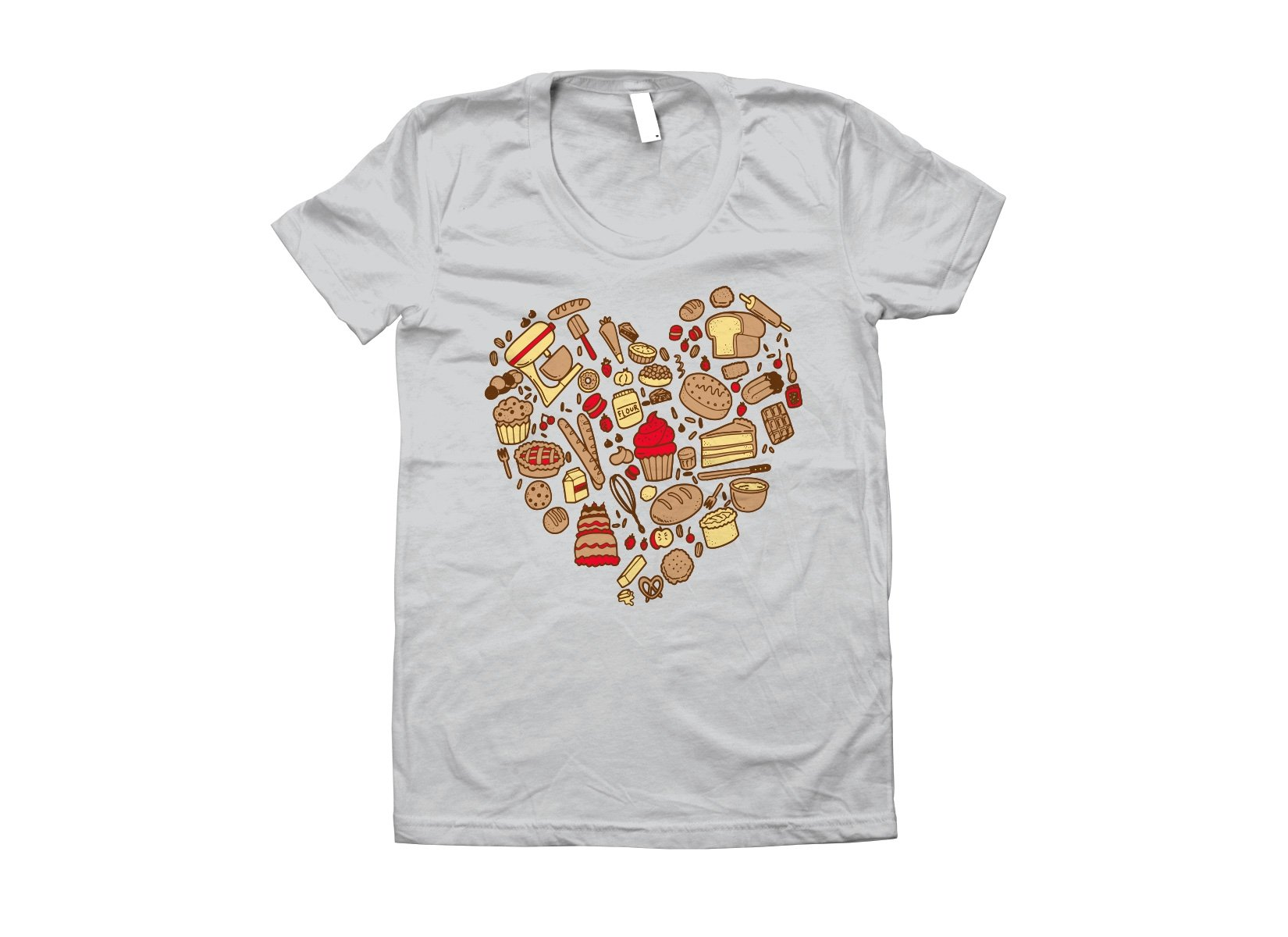 Baking Heart on Juniors T-Shirt