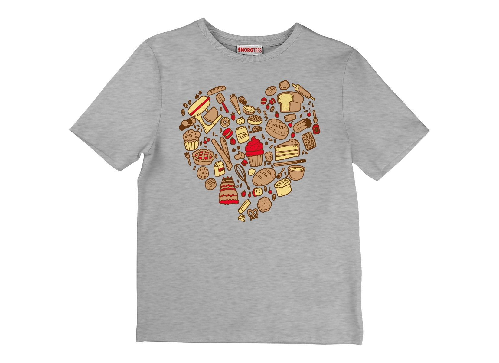 Baking Heart on Kids T-Shirt