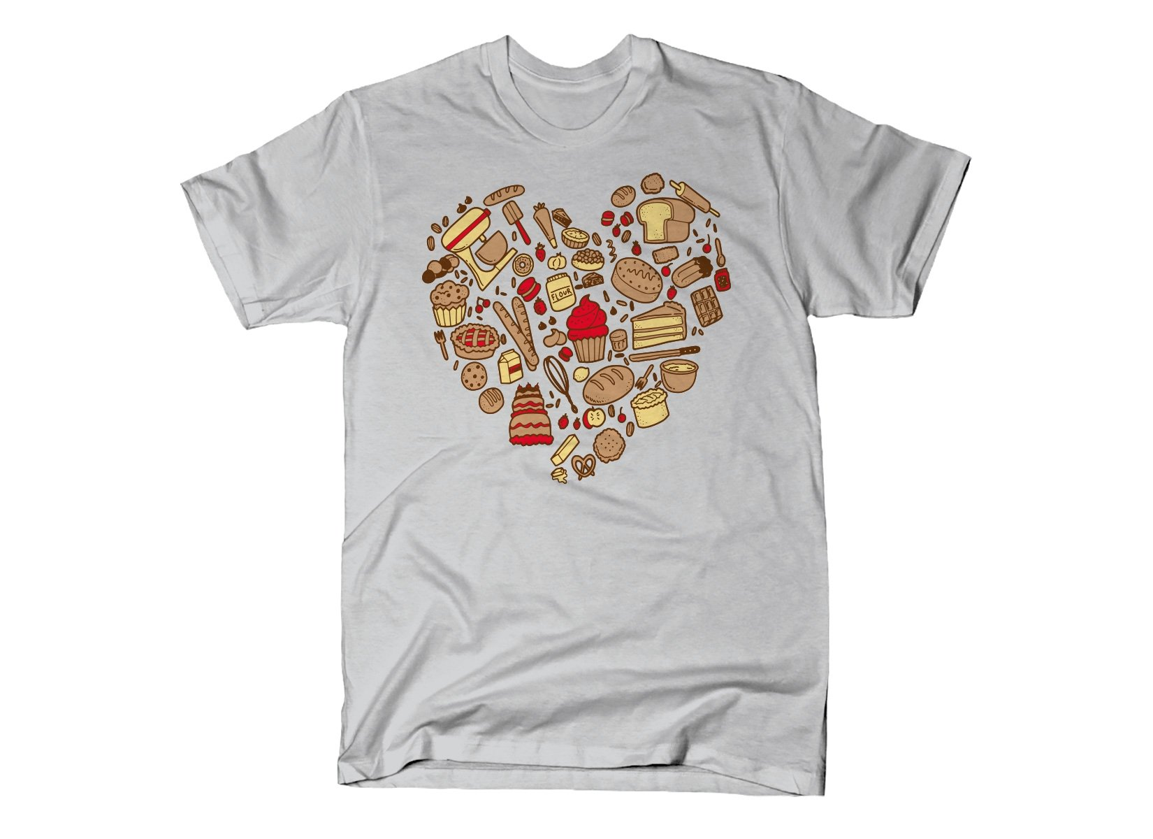 Baking Heart on Mens T-Shirt