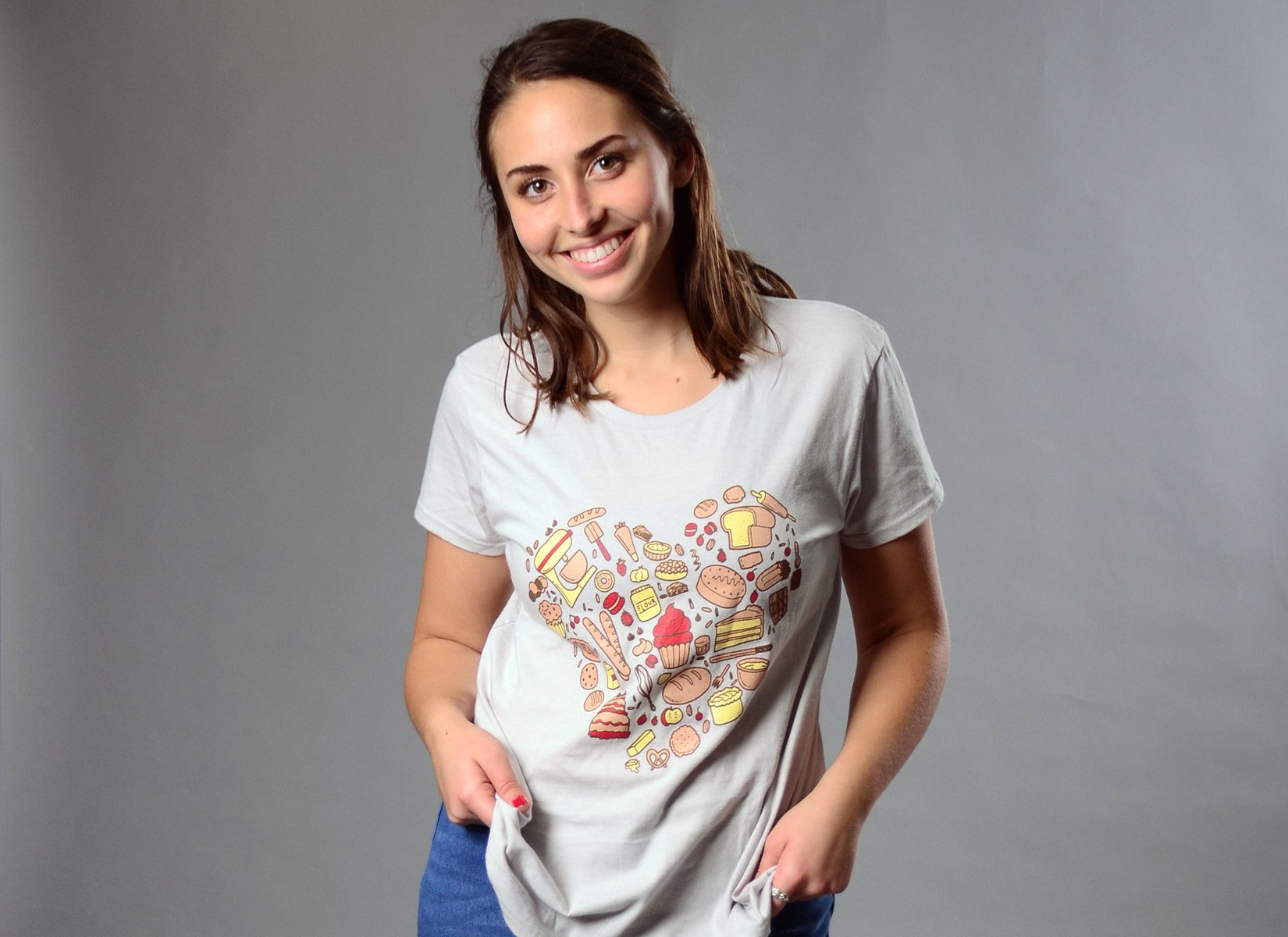 Baking Heart on Womens T-Shirt