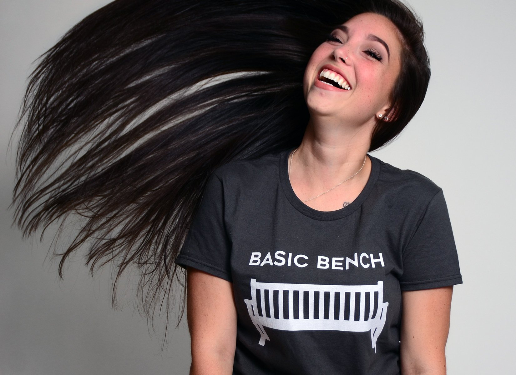 Basic Bench on Womens T-Shirt