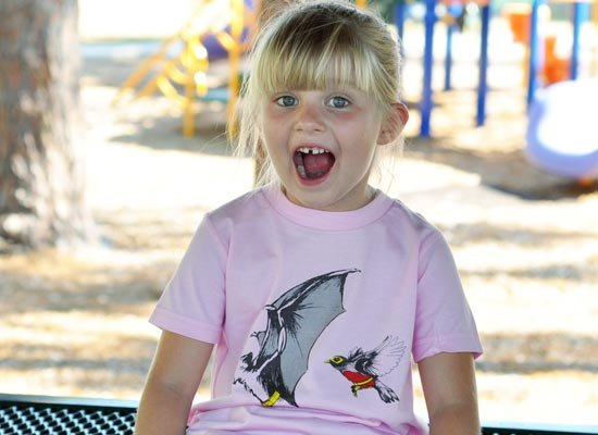 Bat And Robin on Kids T-Shirt