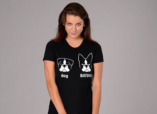 Batdog on Juniors T-Shirt