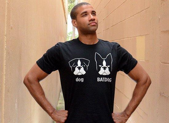 Batdog on Mens T-Shirt