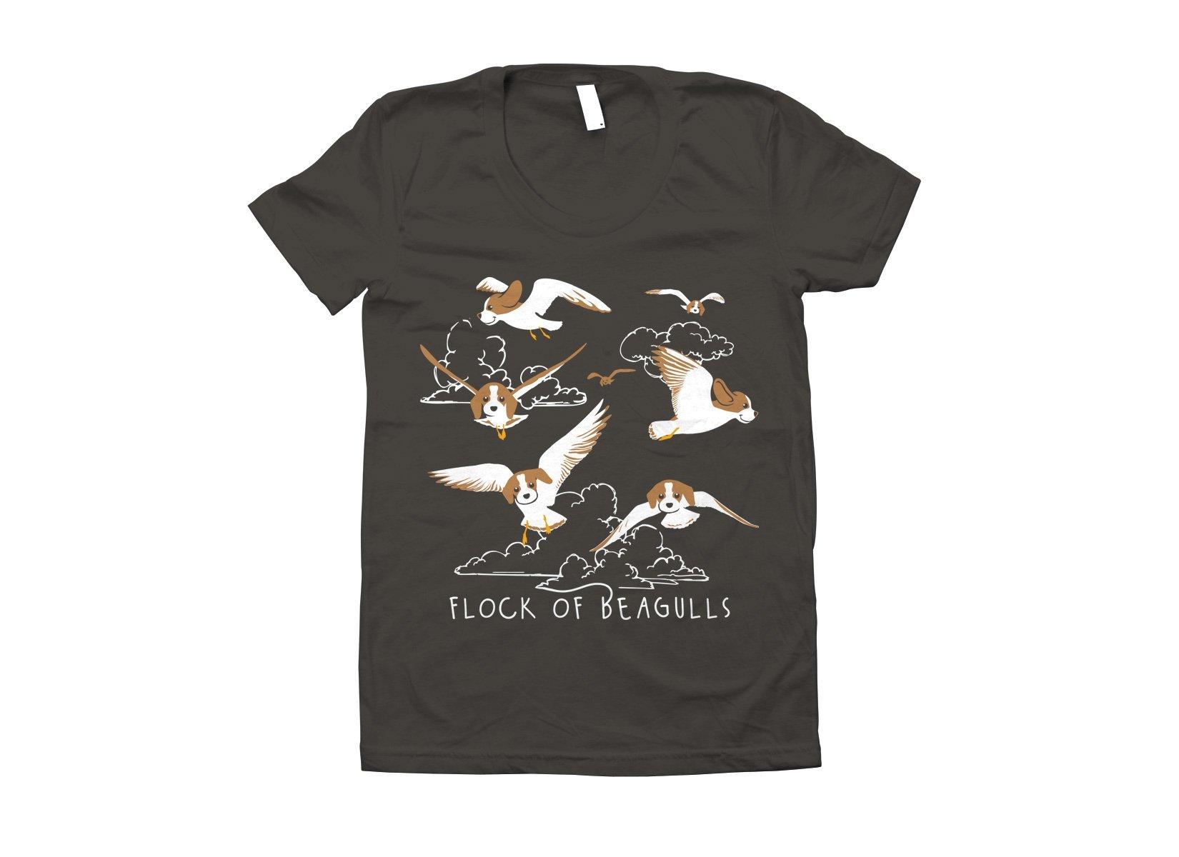 Flock Of Beagulls on Juniors T-Shirt