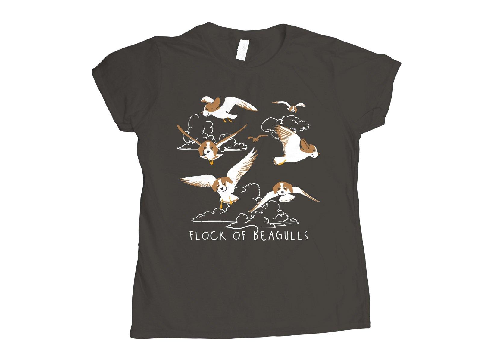 Flock Of Beagulls on Womens T-Shirt