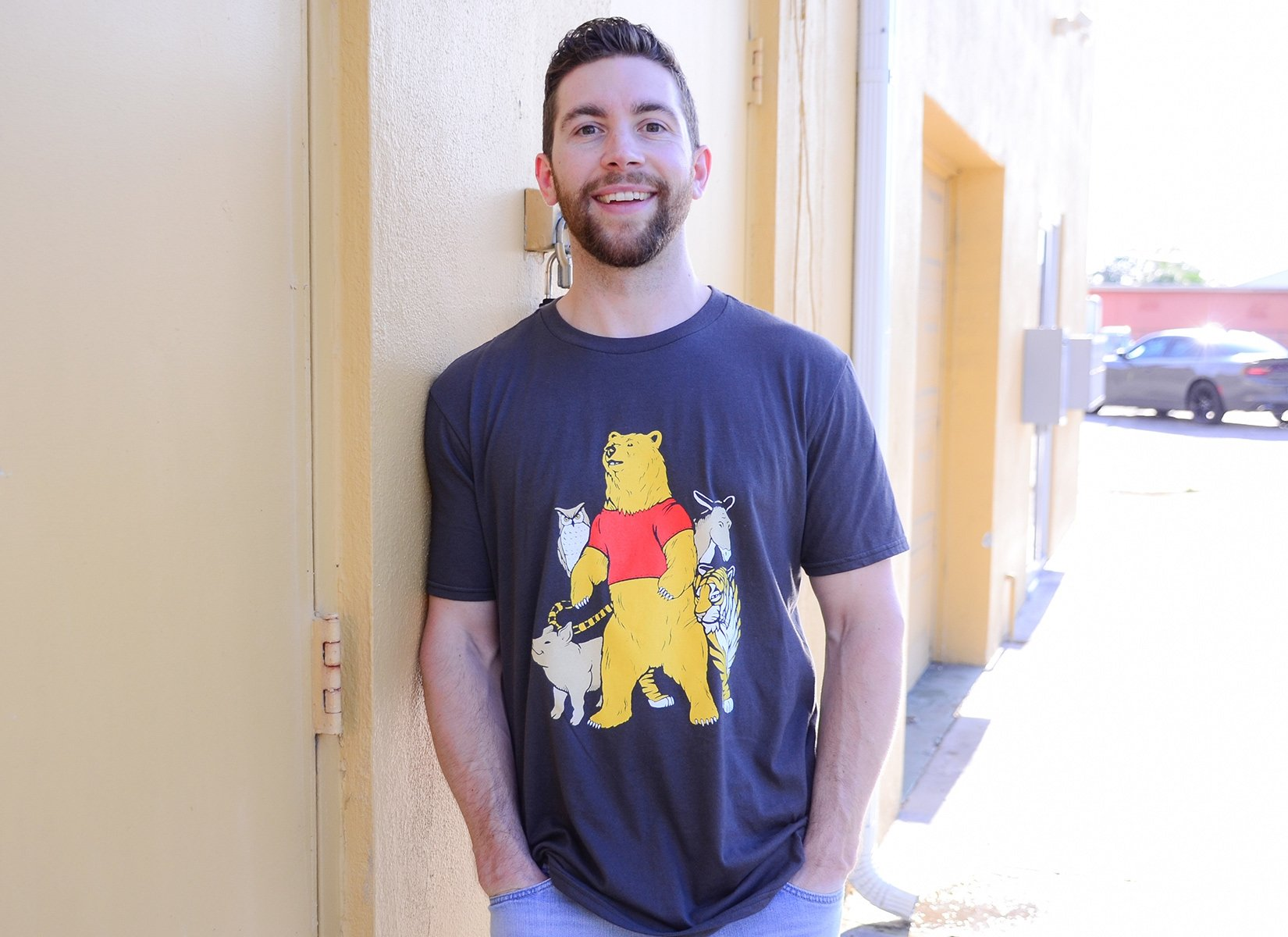 Bear And Friends on Mens T-Shirt