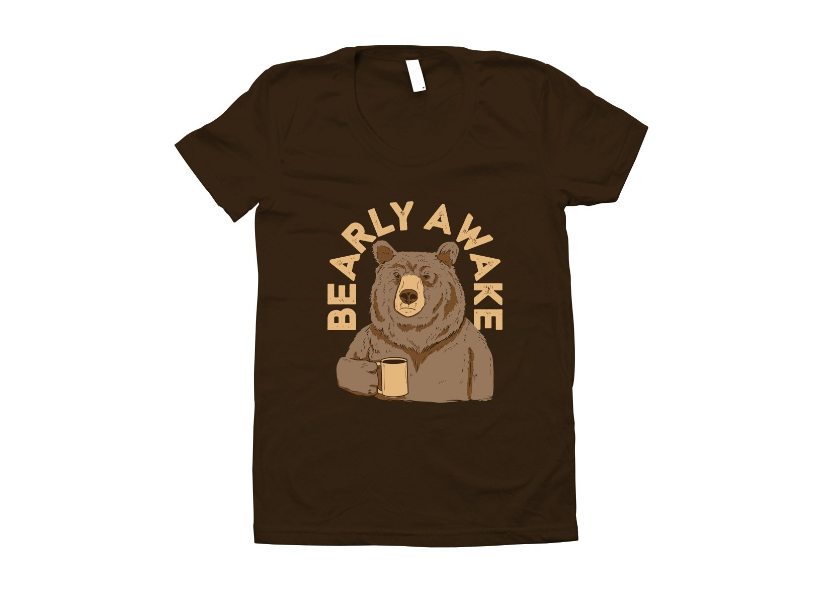 Bearly Awake on Juniors T-Shirt