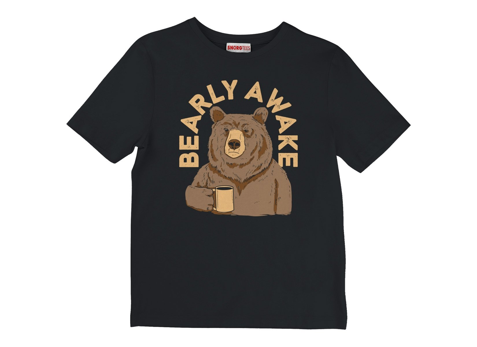 Bearly Awake on Kids T-Shirt
