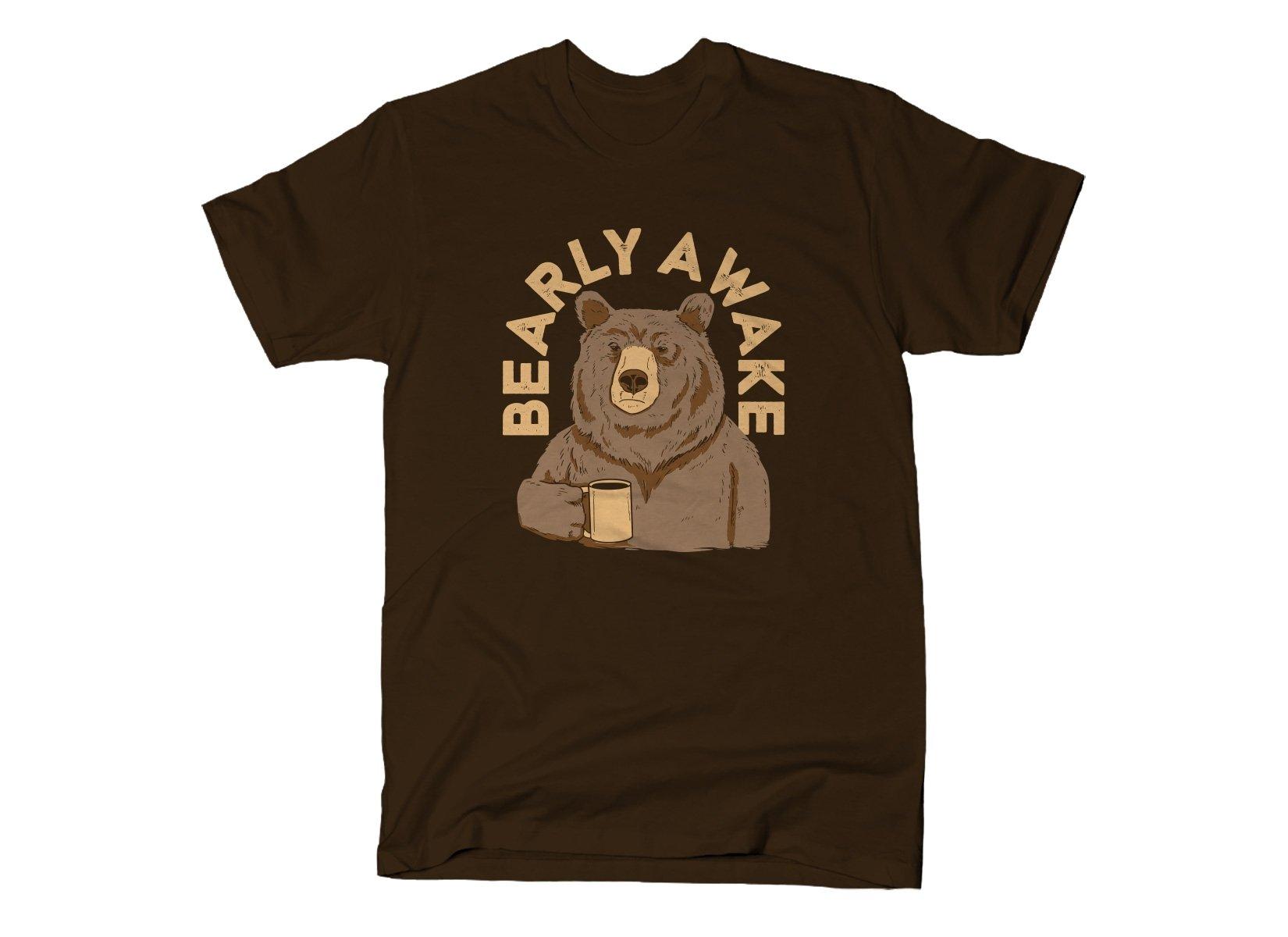 Bearly Awake on Mens T-Shirt