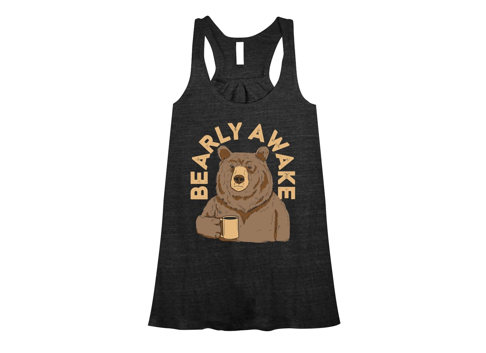 Bearly Awake on Womens Tanks T-Shirt