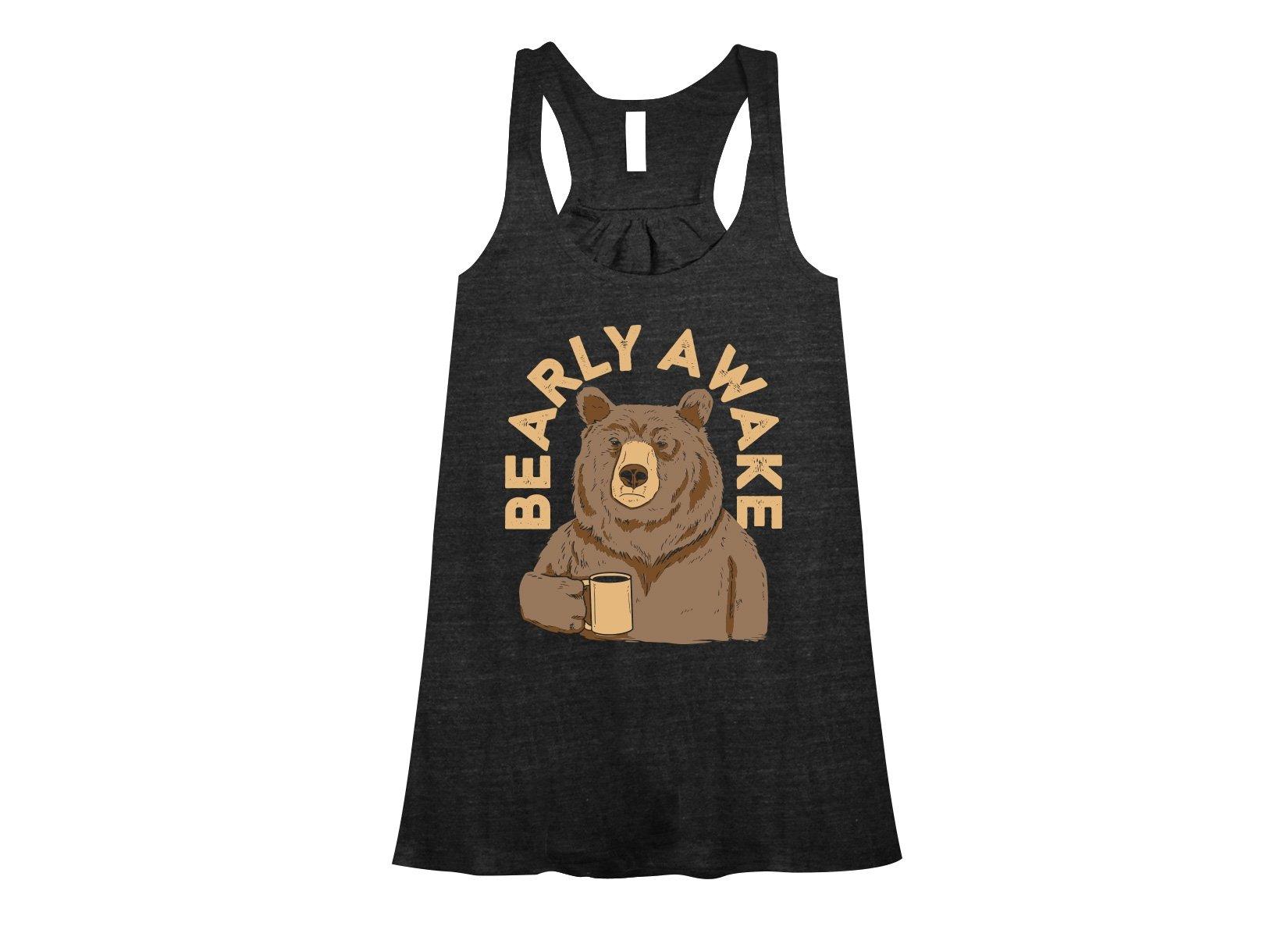 Bearly Awake on Womens Tanks T-Shirt