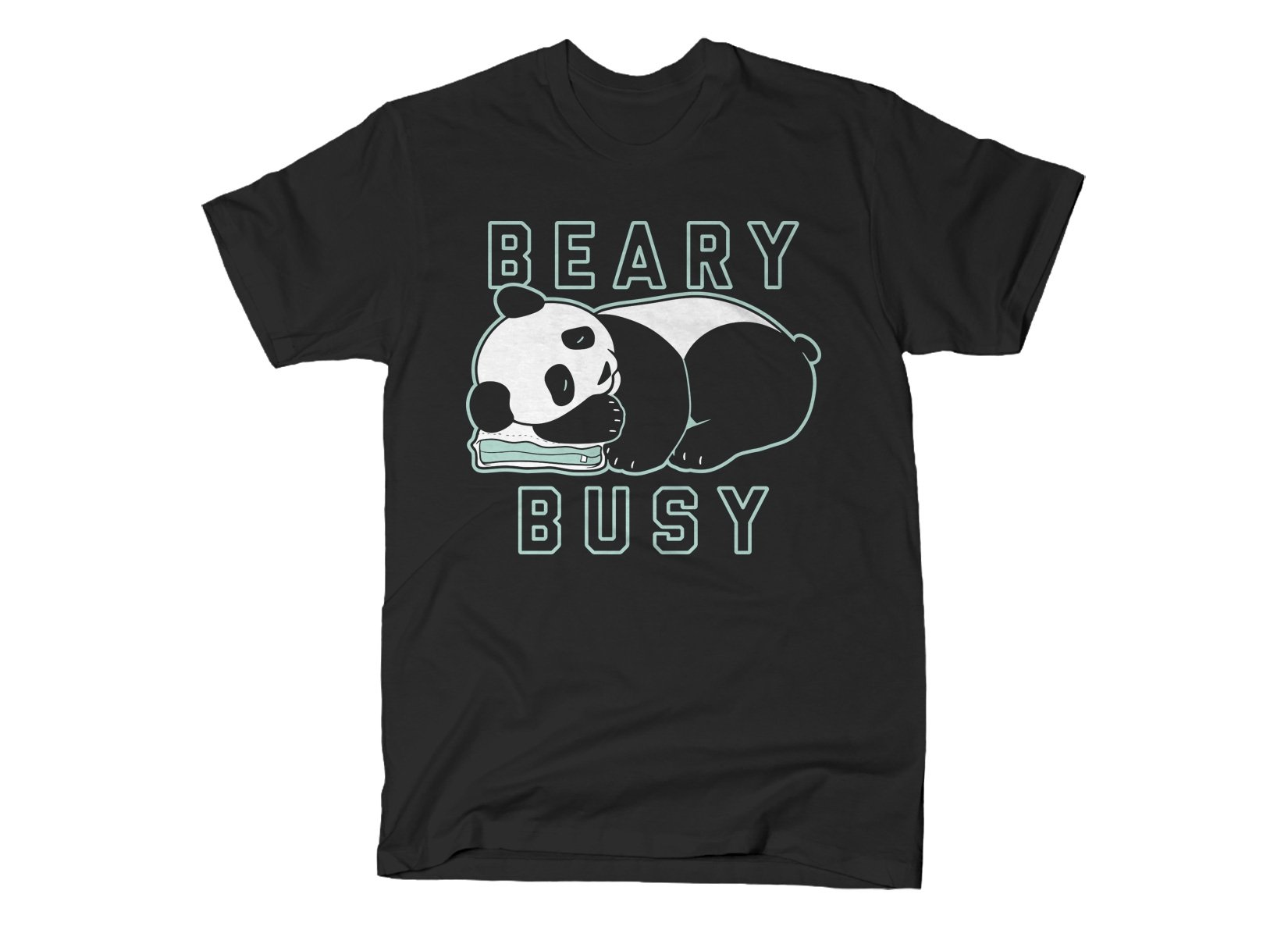Beary Busy on Mens T-Shirt