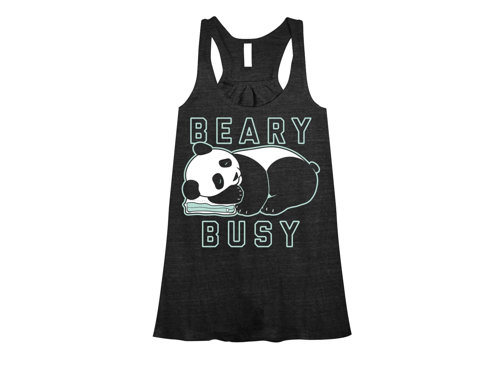 Beary Busy on Womens Tanks T-Shirt