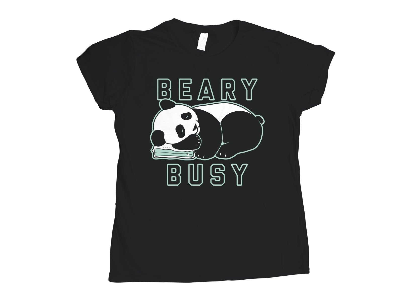 Beary Busy on Womens T-Shirt