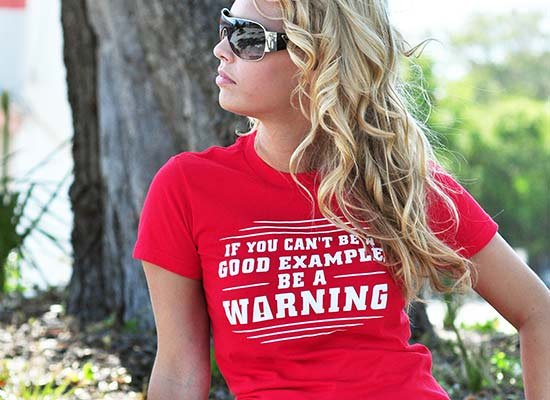 Be A Warning on Juniors T-Shirt