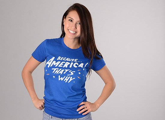 Because America! That's Why on Juniors T-Shirt