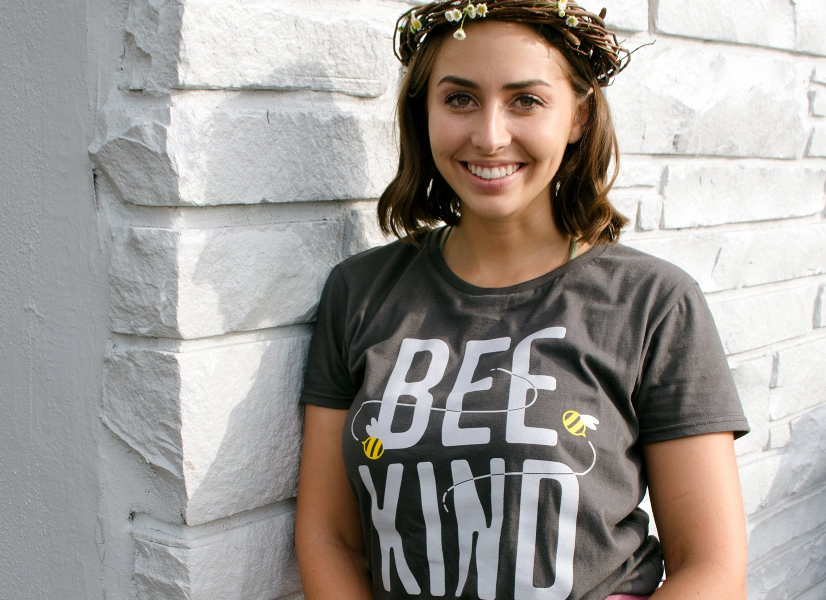 Bee Kind on Womens T-Shirt