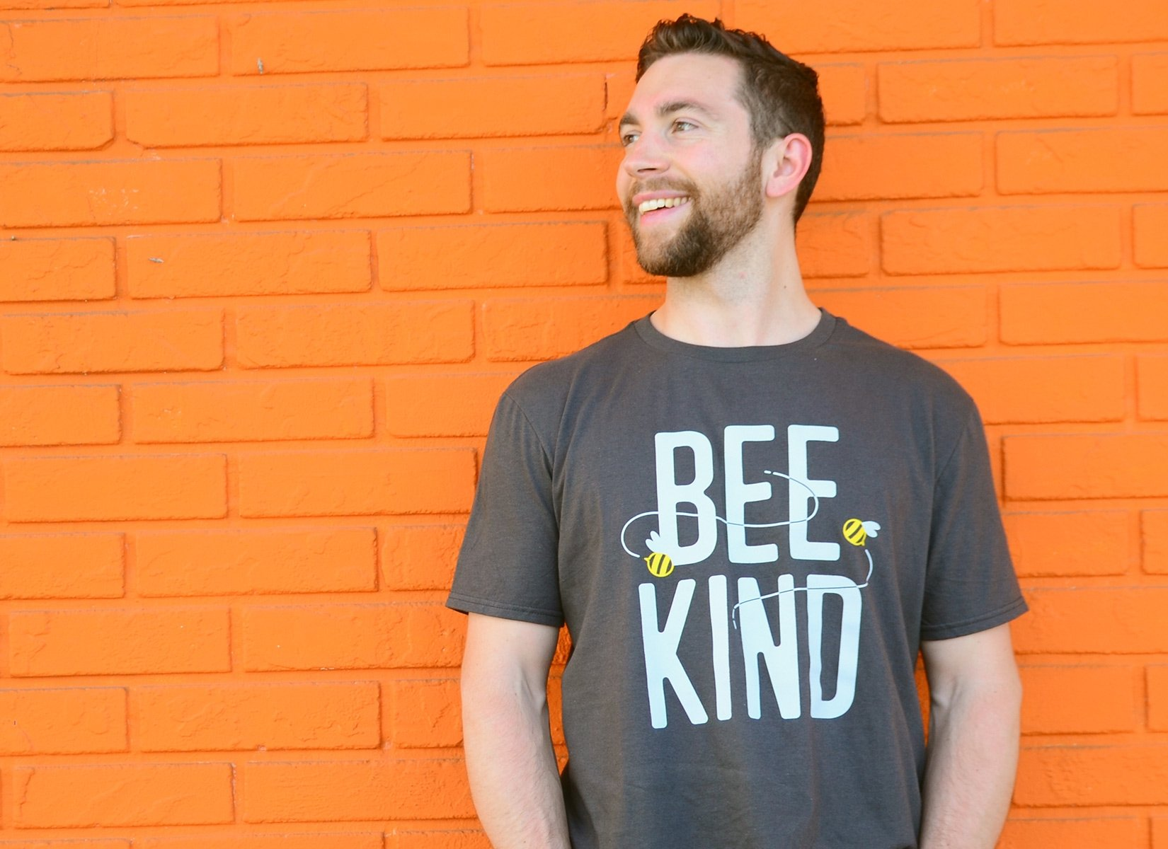 Bee Kind on Mens T-Shirt