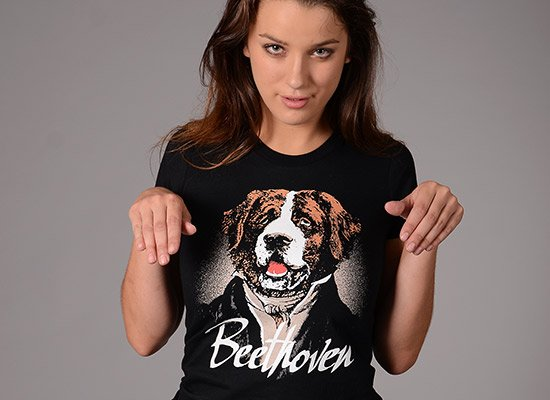 Beethoven on Juniors T-Shirt