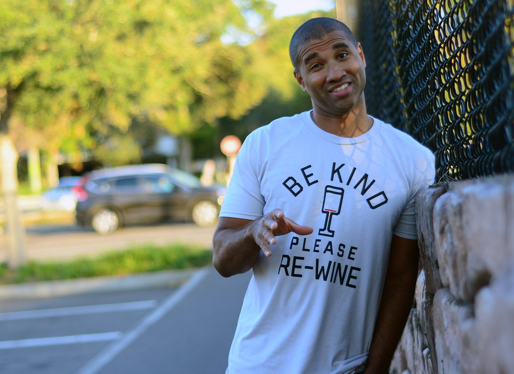 Be Kind, Please Re-Wine on Mens T-Shirt