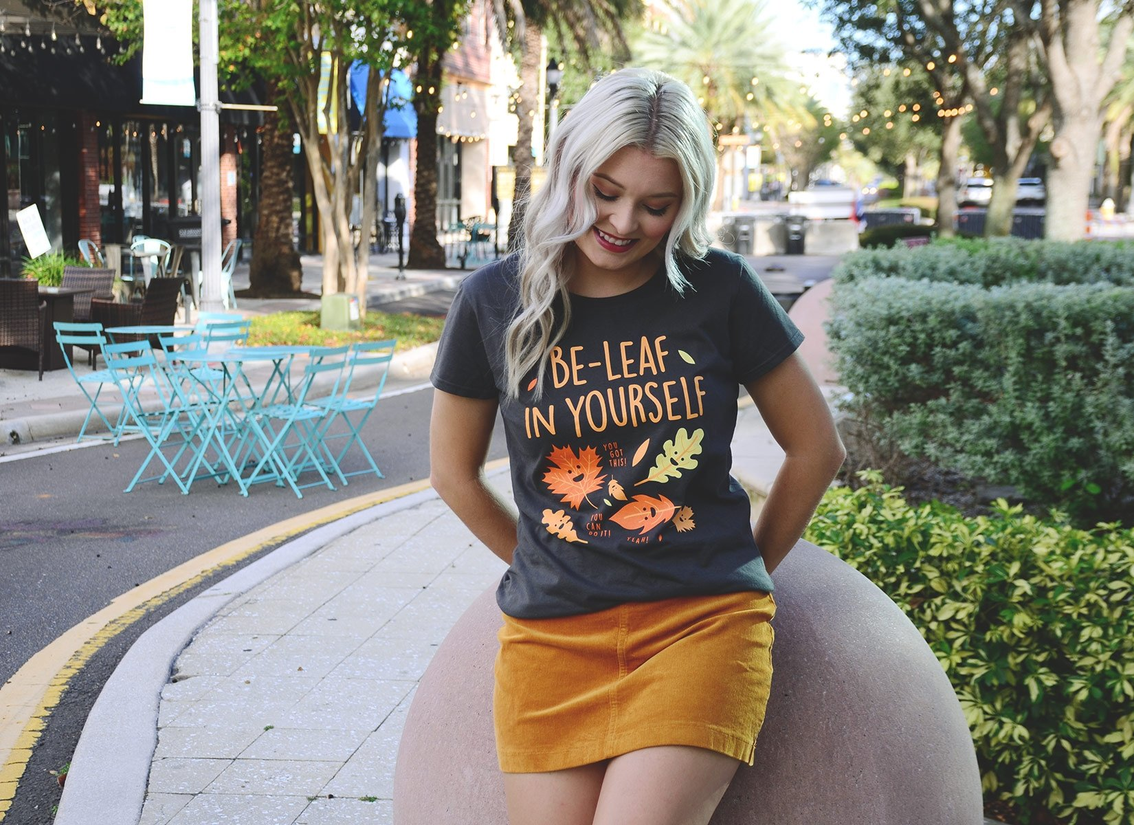 Be-Leaf In Yourself on Womens T-Shirt