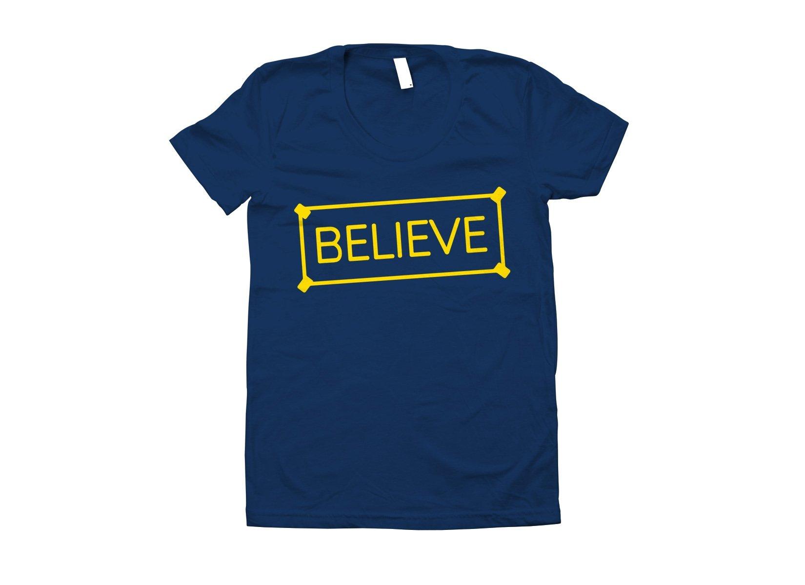 Believe Sign on Juniors T-Shirt