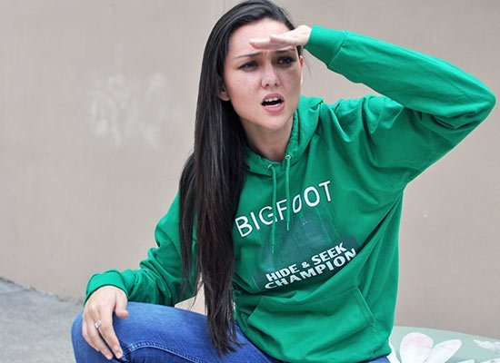 Bigfoot Hide And Seek Champion on Hoodie