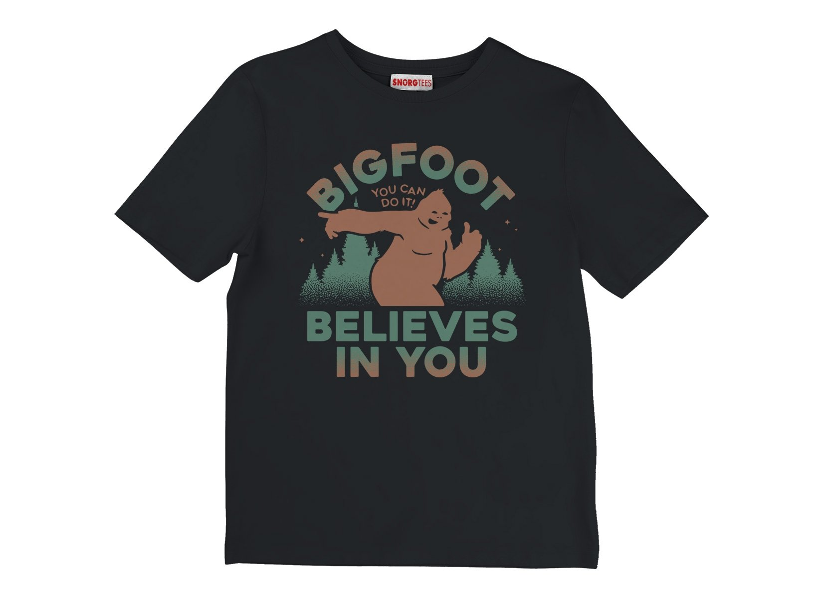 Bigfoot Believes In You on Kids T-Shirt